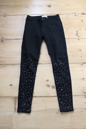 Zara Vaquero skinny negro-gris claro