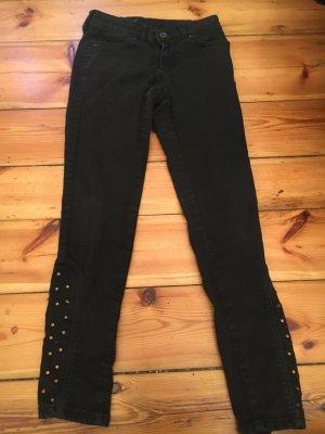 Schwarze Zara leggings mit goldenen Steinen
