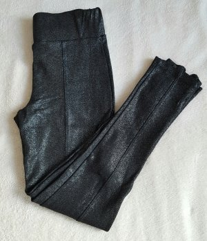 schwarze Zara Stoffhose mit Silberoptik
