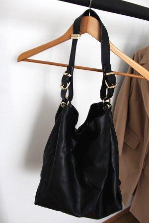 Zara Sac bandoulière noir-brun sable