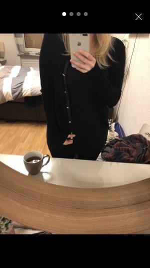 Zara Gebreid vest zwart-zilver