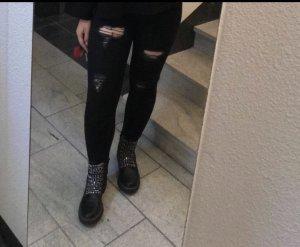 Defacto pantalón de cintura baja negro-gris antracita