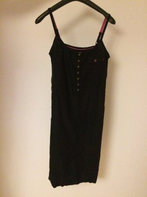 Schwarzen Leinen-Kleid Größe XS
