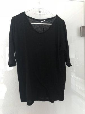 Schwarzer 3/4-Arm-Pullover