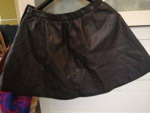 H&M Divided Falda de cuero negro Imitación de cuero