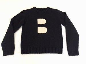 Schwarzer Bally Merino-Pullover (40)