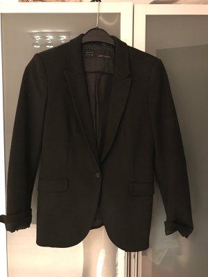 Schwarzer Basic-Blazer