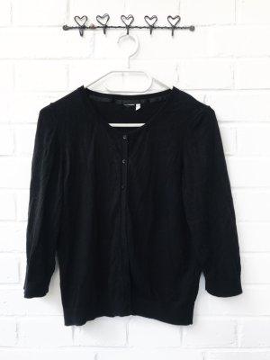 Schwarzer Basic Cardigan