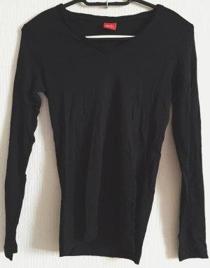 schwarzer Basic Pullover