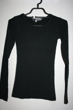 schwarzer Basicpullover XS