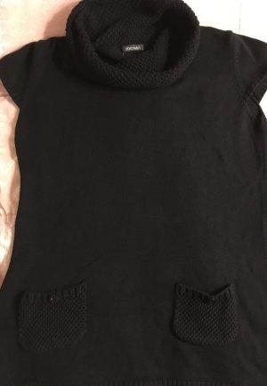 Schwarzer Baumwollpullover von Monari mit großem Rollkragen
