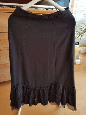 schwarzer Baumwollrock