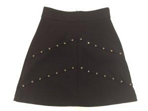 Zara Mini rok zwart-zilver