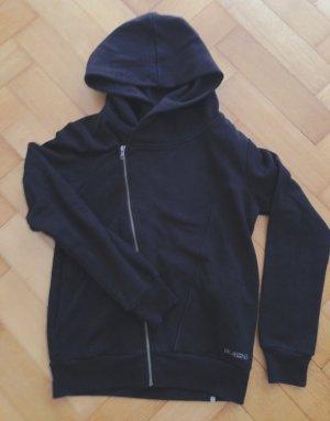 Schwarzer Billabong Hoodie mit großer Kragen-Kapuze und Taschen