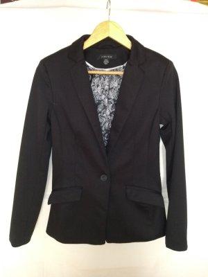 Amisu Blazer in jersey nero-grigio chiaro Poliestere