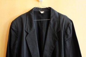 schwarzer Blazer 80er Gr. 40 mit Schulterposter 100% Baumwolle