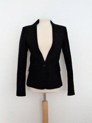 Schwarzer Blazer aus Baumwolle