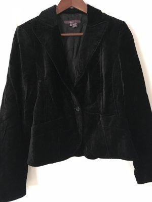 schwarzer Blazer aus Samt von Zara