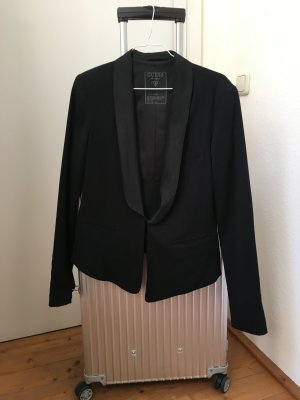 schwarzer Blazer in Smoking Optik von Guess
