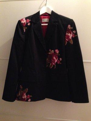 Schwarzer Blazer mit Blumenprint