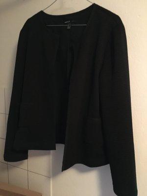 Schwarzer Blazer mit gerippten Nähten