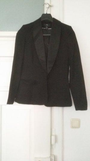 schwarzer Blazer mit Satin Revers von H&M