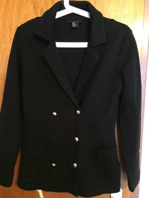 schwarzer Blazer mit Taschen und Knöpfen