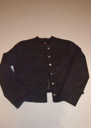 Schwarzer Blazer mit Verzierung von H&M