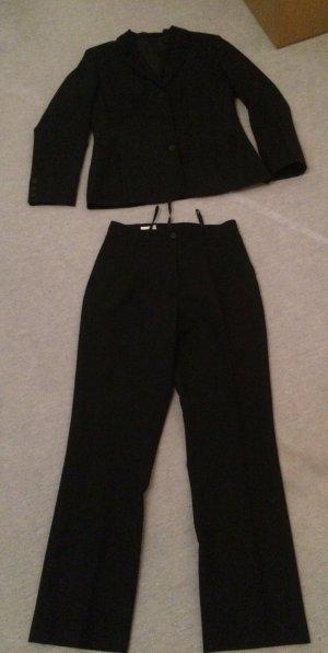 schwarzer Blazer, Rock und Hose - Anzug, Anzugshose,Kostüm - Canda - Gr.S