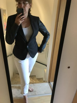 Saint Tropez Wool Blazer black-silver-colored mixture fibre