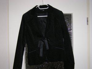 schwarzer Blazer samt H&M