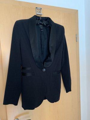 Mango Suit Tuxedo Blazer black