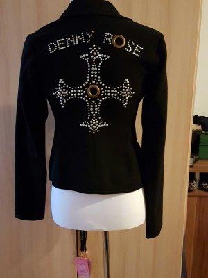 schwarzer Blazer von Denny Rose mit Nieten Gr. S
