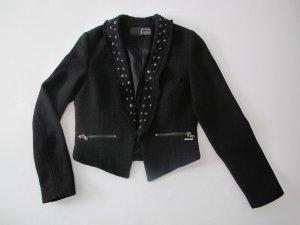 Schwarzer Blazer von Firetrap mit Nieten und Lurexfäden in Gr. S (36)