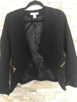 Schwarzer Blazer von H&M im Wasserfalldesign gr. Xxs
