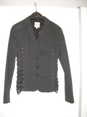 schwarzer Blazer von Moschino Jeans Gr. 42 mit Schnürung