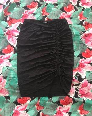 schwarzer bleistiftrock / knielang / vintage