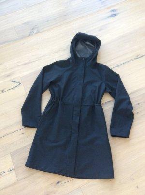 Uniqlo Manteau de pluie noir polyester