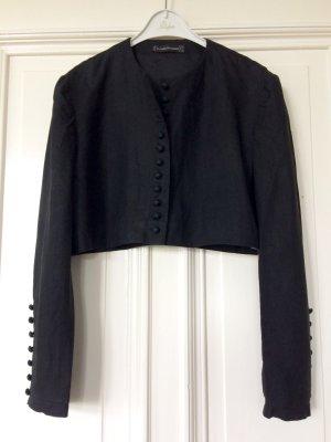 Schwarzer Bolero French Trend Black Crop Folklore Boho Vintage Design Kurzjacke