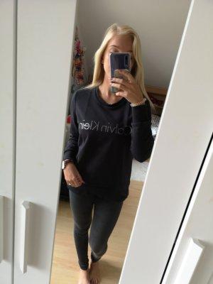 Calvin Klein Jersey largo negro-color plata