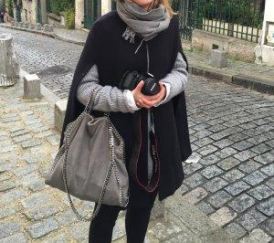 Zara Woman Cape black wool