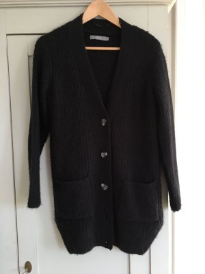 B.young Coarse Knitted Jacket black polyacrylic