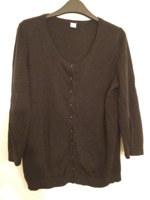 schwarzer Cardigan mit 3/4-Ärmeln