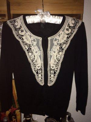 Schwarzer Cardigan mit Dreiviertel-Ärmeln Größe XS