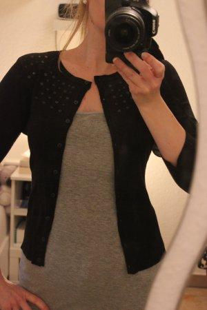 schwarzer Cardigan mit Pailletten von H&M