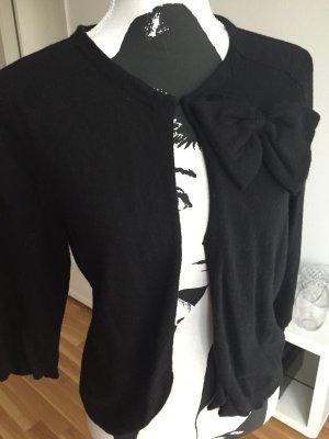 Schwarzer Cardigan mit Schleife