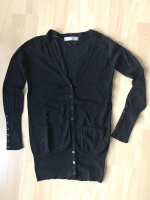 Schwarzer Cardigan mit Taschen