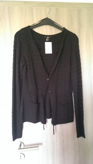H&M Coarse Knitted Jacket black