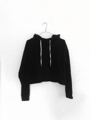 Schwarzer Crop Pullover