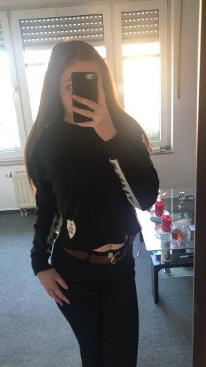 Schwarzer Crop Pullover von Tally Wejl